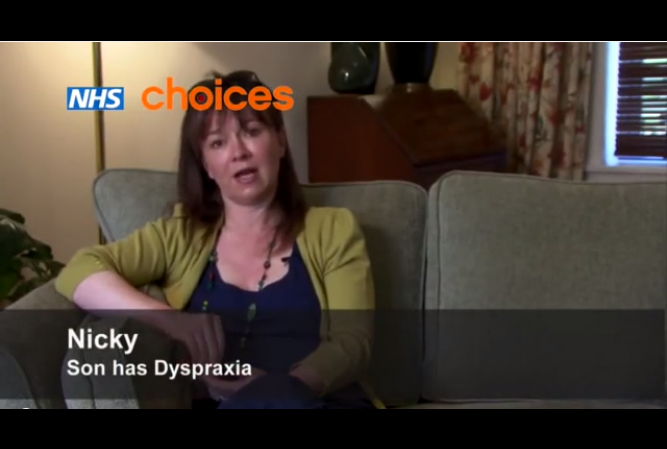 Childhood dyspraxia James story.