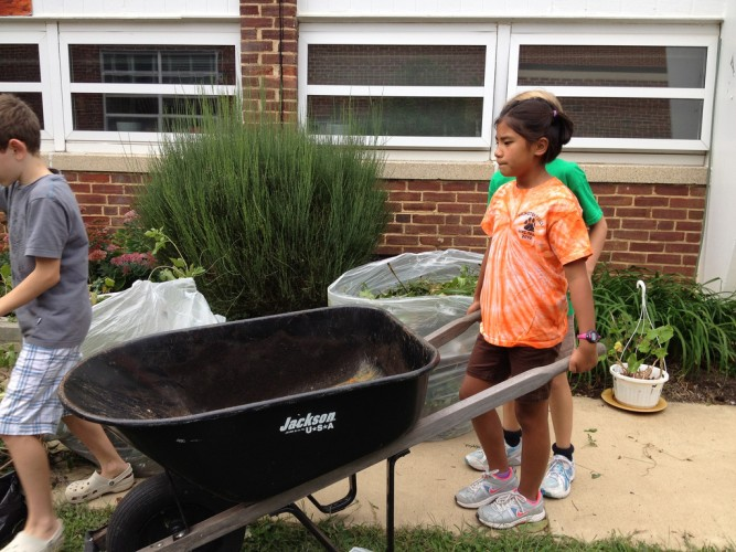 Gardening creates opportunities for hands-on learning