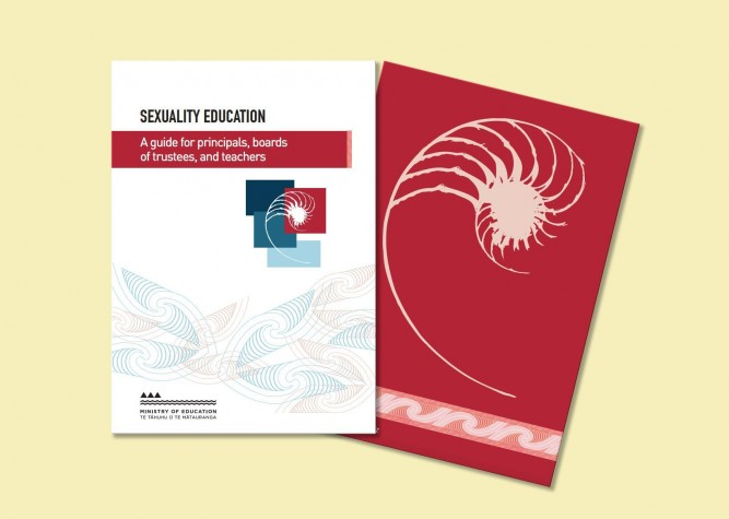 Front and back cover images of Sexuality Education: A guide for principals, boards of trustees, and teachers