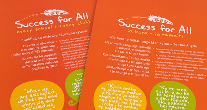 Image of the cover of the Success for all strategy document