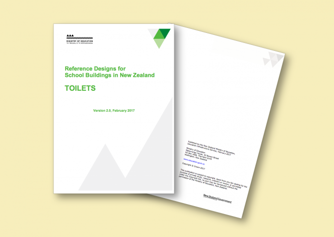 Cover image of Reference designs for school buildings in New Zealand – Toilets