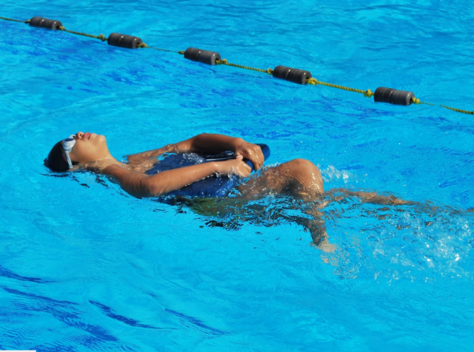 Young person swimming