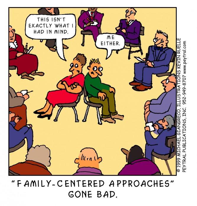 An unsuccessful family-centred approach