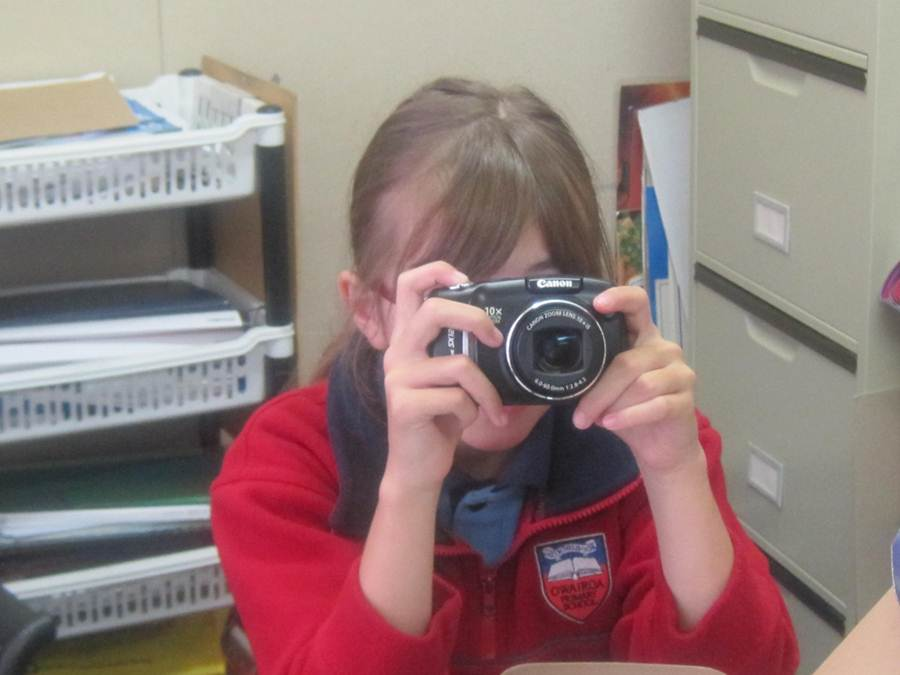 A student capturing images