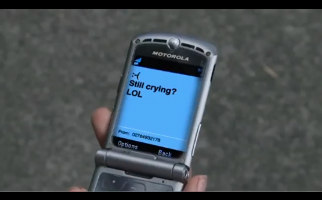 still crying text FROM THE NETSAFE VIDEO AT A DISTANCE1.
